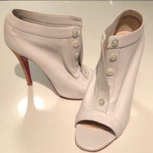 Christian Louboutin white peep toe heels 38.5